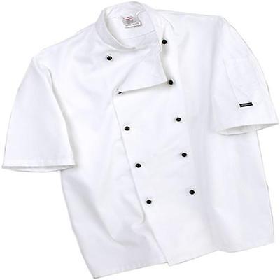 Dennys Lightweight Chef Jacket White Removable Blk Stud