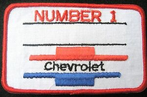 CHEVROLET-SEW-ON-PATCH-CHEVY-NUMBER-1-AUTOMOBILE-BOWTIE-LOGO-4-1-4-034-x-2-1-2-034