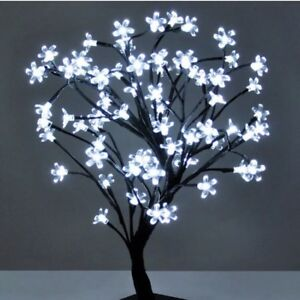Bright 24 Led White Bonsai Flower Tree