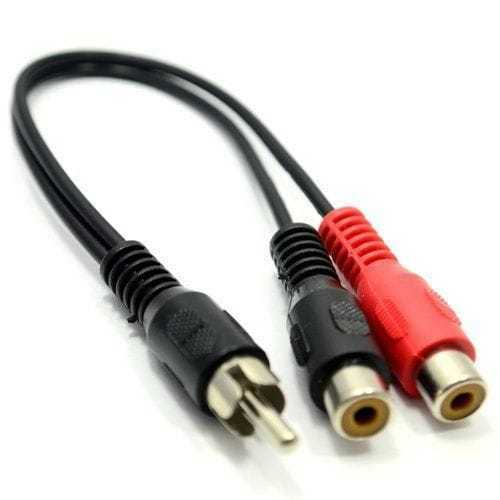 Cable de audio mono 2x rca /H - rca /M 0.20 M Negro