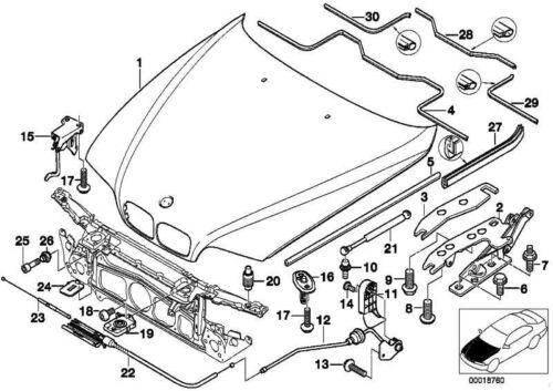 ORIGINALE BMW 41618208437-Piastra di compensazione 2,0mm 5er