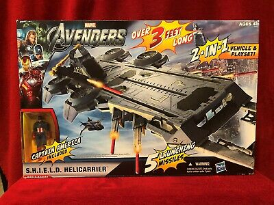 Helicarrier Vehicle Playset Toy MIB Marvel 3 Feet Long The Avengers S.H.I.E.L.D