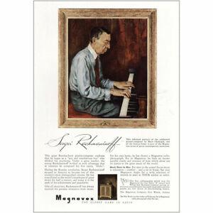 1943 Magnavox: Sergei Rachmaninoff Vintage Print Ad