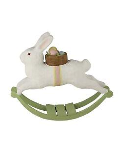 Bethany-Lowe-Large-Paper-Mache-Rocking-Rabbit-TJ5298-New