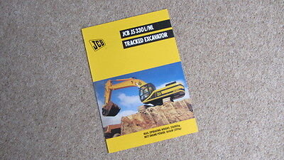 Apprehensive Jcb Js 330l/nl Tracked Hydraulic Excavator Brochure 9999/4488 4/99 Circa 1999 Traveling Agriculture/farming