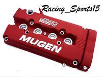 Mugen Style Engine Valve Cover For B16 B18 B20 Honda Civic Si Dohc Vtec - Red