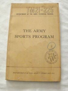 VINTAGE-1951-KOREAN-WAR-THE-ARMY-SPORTS-PROGRAM-TM21-225-TECHNICAL-MANUAL-BOOK