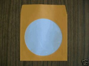 1000-ORANGE-CD-PAPER-SLEEVES-w-WINDOW-amp-FLAP-JS203