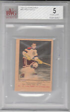 1951-52 Parkhurst #45 FRED HUCUL rookie BVG 5.0 (Ex) Chicago Blackhawks