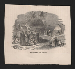 OPC-Vintage-Holy-Land-Engraving-Encampment-at-Jerico-5-5x4-5-034
