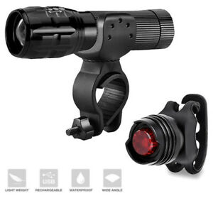 WATERPROOF-BRIGHT-LED-BIKE-BICYCLE-CYCLE-FRONT-AND-REAR-BACK-TAIL-LIGHT-LIGHTS
