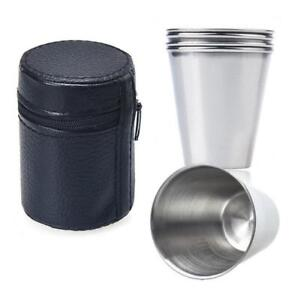 4Pcs-Stainless-Steel-Mini-Cup-Mug-Drinking-Coffee-Beer-Tumbler-Camping-Travel