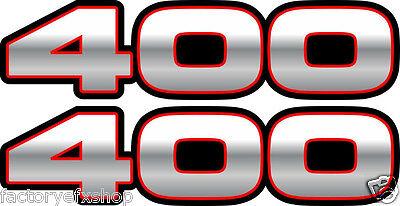 Trailblazer Fender Decals Stickers Red sport 4x4 atv graphics 250 400 2x4