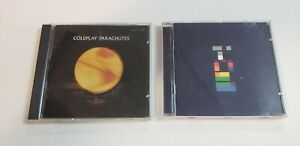 Lot-Of-2-COLDPLAY-Music-Compact-Discs-CDs-Parachutes-And-X-amp-Y-PRE-OWNED