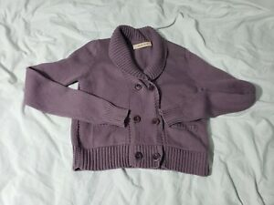 b56c3777 See by Chloe Sweater Purple Cotton Size US 2 Double Breasted ...