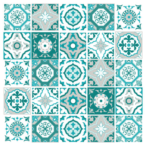 Tile Stickers Transfer Traditional Kitchen Bathroom Custom Size Option 150mm T1