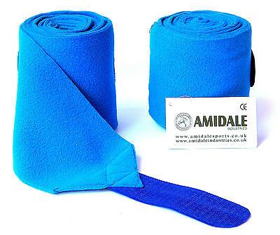 Horse Polo Wraps Stable Wraps Set of 4 Metallic Blue Glitter