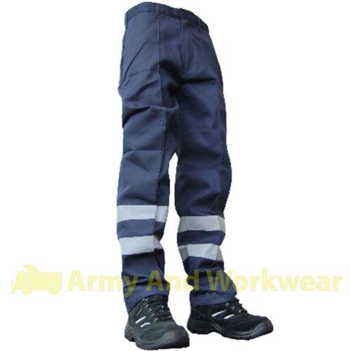 Da Uomo Hi Viz Lavoro Pantaloni con toppa in nylon balistico PRO TRADE rifiutare TUFF Pantaloni