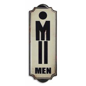 9973928-x Retro Vintage Tin Sign Wc Toilet Men 35, 5x12, 5cm