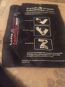 Bone-Shieldz-Pro-Level-360-Knee-Elbow-amp-Wrist-Pads-Cool-Max-Size-Large-Adj