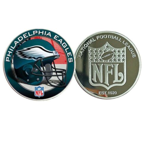PHILADELPHIA EAGLES Commemorative Metal Coin 999.9 Silver Plated Coin Collection