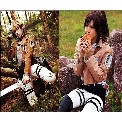 Cool cosplay Attack on Titan Shingeki no Kyojin Recon corps jacket coat costume