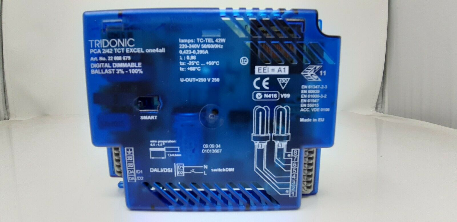 TRIDONIC 22088679 PCA 2 42 TCT EXCEL one4all digital dimmable ballast DALI DSI