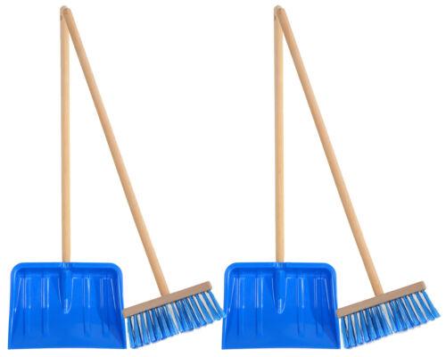Ondis24 2 x Kinderschneeschaufel Kinderschneebesen Set Fun 20 cm blau
