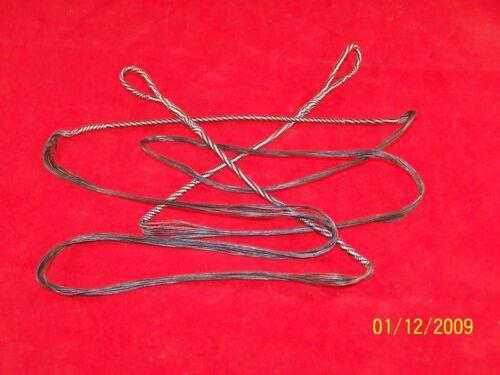 "Custom Amo 60 Recurve String 56 1//8/"" Fast Flyte 20 Strand String 65# 80# Black"