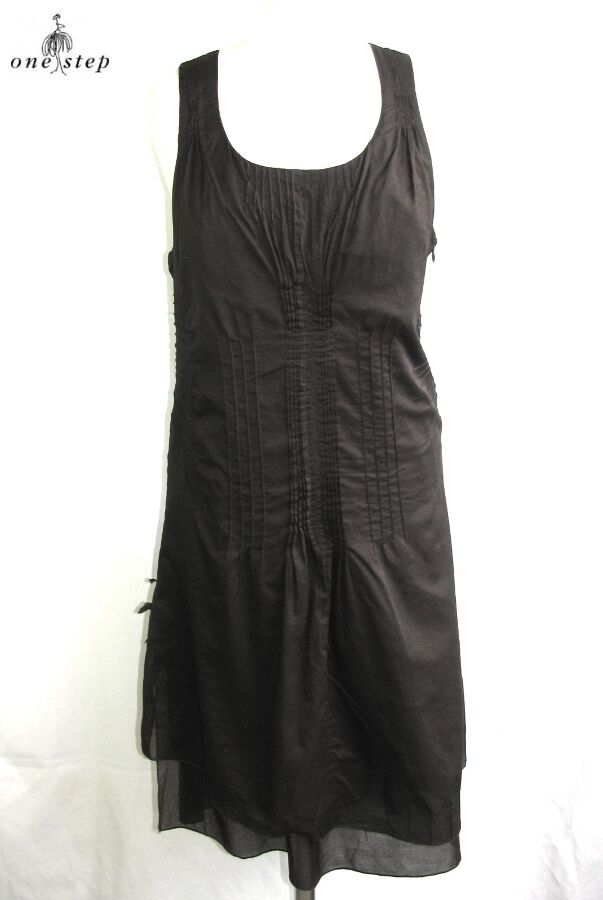 ONE STEP - DRESS FITTINGS COTTON DARK CHOCOLATE SIZE 42 - PERFECT CONDITION