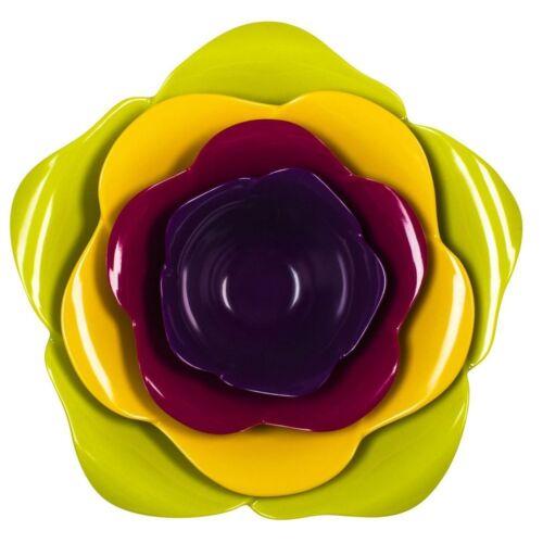 Zak Rosy Flower Power Stacking Multi-Colour Medium Melamine Serving Bowl Set