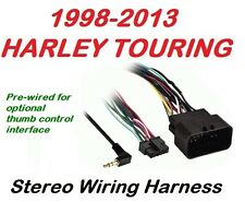 harley radio harness 1998 2013 harley touring radio stereo cd installation wiring harness only