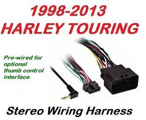 harley davidson aftermarket radio wiring harness harley 1998 2013 harley touring radio stereo cd installation wiring on harley davidson aftermarket radio wiring harness
