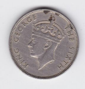 Details about 1950 MAURITIUS KING GEORGE ONE RUPEE COIN shows 8 Pearl C-451