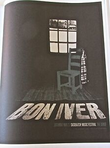 Bon-Iver-Mini-Concert-Poster-Reprint-for-2009-Seattle-WA-14x10-Gig-Offset-Litho