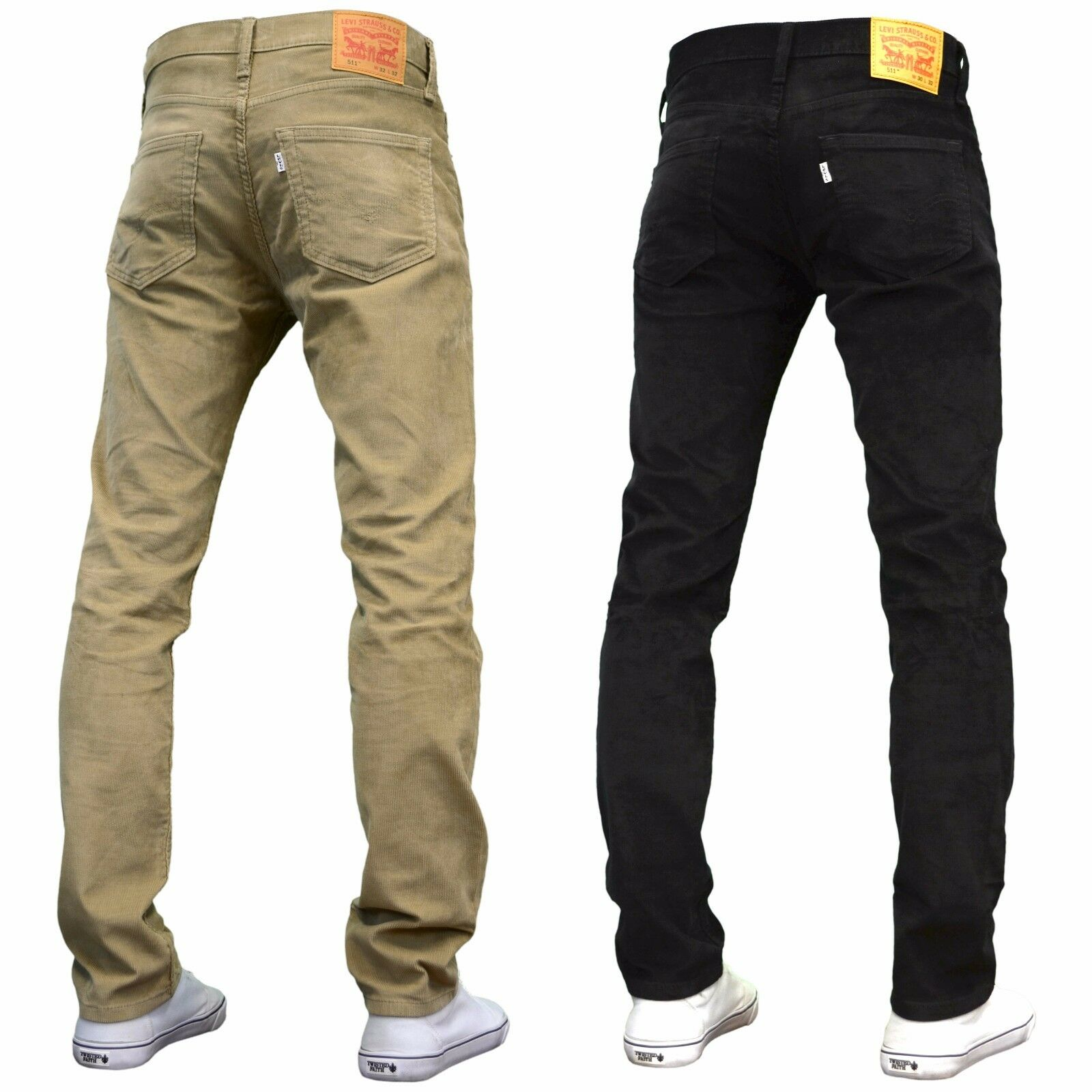 levi 39 s 511 men 39 s designer slim fit stretch corduroy jeans black beige bnwt ebay. Black Bedroom Furniture Sets. Home Design Ideas