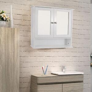 WHITE-BATHROOM-WALL-CABINET-DOUBLE-MIRROR-DOOR-WOODEN-SHELF-BATH-ROOM-STORAGE