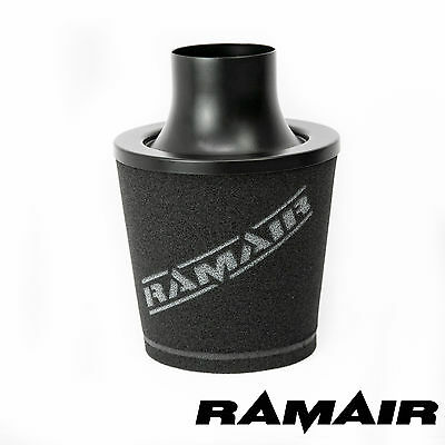 Adattabile Filtro Dell'aria Universale Ramair 70mm Collo Od In Alluminio A Induzione Di Aspirazione Cono Nero- Fabbriche E Miniere