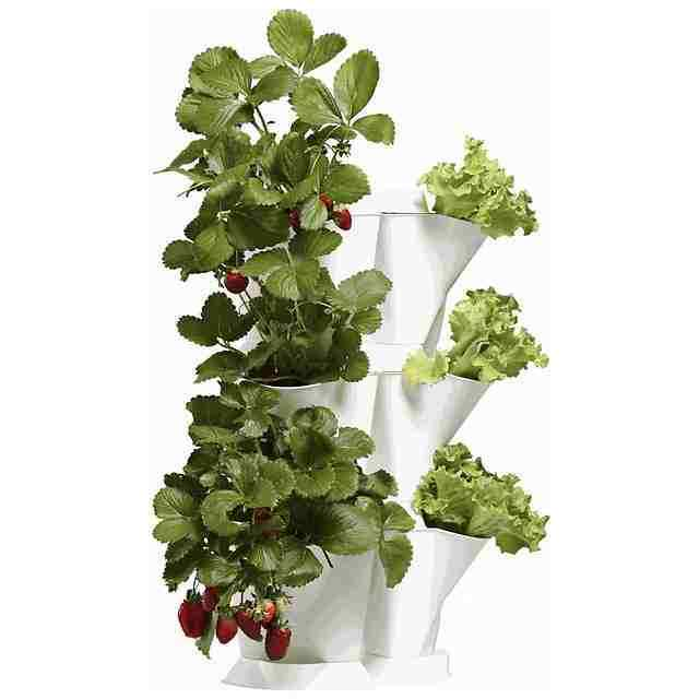 Minigarden vaso verdeicale bianco angolare modulare 3 moduli corner verdeical g