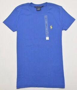 RALPH-LAUREN-SPORT-Women-039-s-Blue-Cotton-Short-Sleeve-T-Shirt-Size-S-Petite