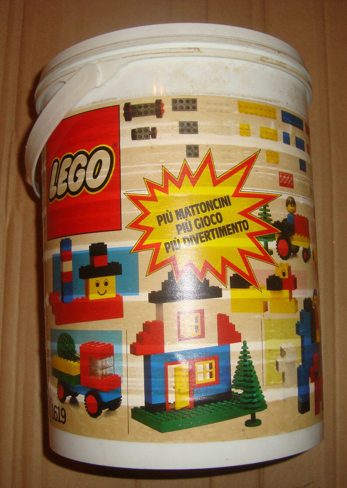 LEGO 1619 25th ANNIVERSARY BASIC STORAGE  CONTAINER 1987  punto vendita