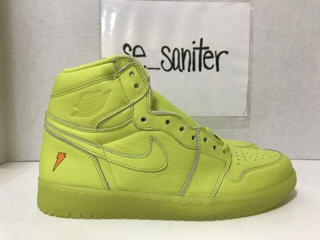 5749145049d19a Nike Air Jordan 1 Retro Hi OG Gatorade Lemon Lime Yellow AJ5997-345 Sz 11.5