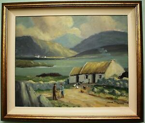 Original Oil On Canvas Painting IRISH COTTAGE By