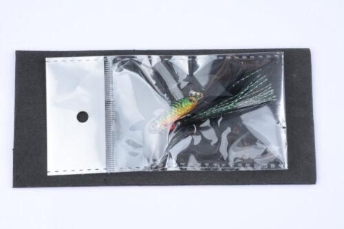 Micro Lead Jig Fishing Lure Feather Hook Hard Bait 4.8g//3.2cm