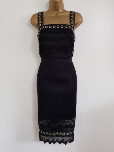 NEW D-benh*ms Black Lace Pencil Shift Dress Occasion Wedding Evening Party