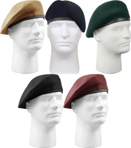 6891ddbf3c5c4 1 of 2FREE Shipping Military Wool Beret - Inspection Ready Pre-Shaved Badge  Tactical US Army JROTC