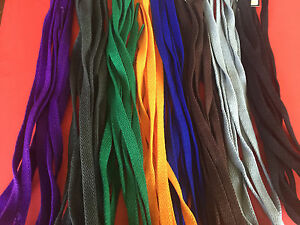NEW-Athletic-Wide-Shoe-Lace-Top-Quality-Black-Orange-Green-Blue-Grey-Purple-Char