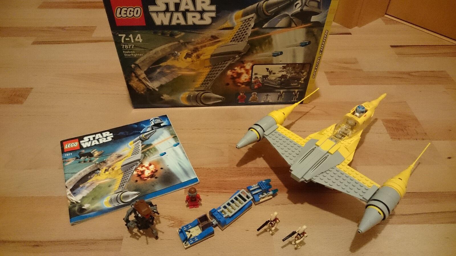 LEGO StarWars StarWars StarWars Naboo Starfighter (7877) wie Neu 3cf054