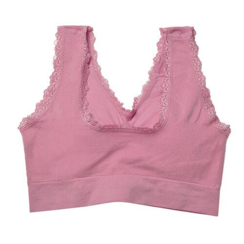 Women Seamless Sports Bra Wireless Yoga Crop Top Vest Comfort Stretch Shapewear