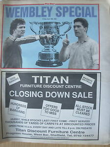 NEWSPAPER-SHEFFIELD-WEDNESDAY-v-MANCHESTER-UNTED-CUP-FINAL-WEMBLEY-SPECIAL-1991